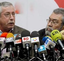 Méndez y Toxo indignados