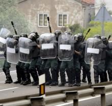 Antidisturbios en Asturias