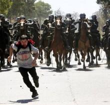 Los manifestantes no podrán correr