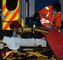 Diputado trasladado en ambulancia