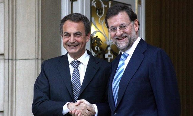 """Zapatero y Rajoy firman por un año más la renovación de """"la culpa de todo lo que pasa""""lpa"""