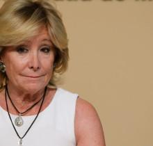 Esperanza Aguirre, escandalizada al descubrir su propia nariz
