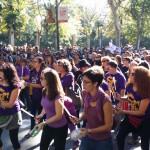 Multadas varias mujeres en Madrid y Valencia por proclamar que hoy también era su día