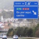 La directora de la DGT se niega a retirar una señal de autopista que beneficia solo a su marido