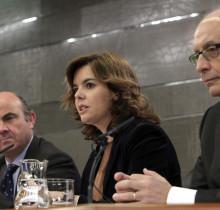 , GUINDOS Y MONTORO EN LA RUEDA DE PRENSA TRAS EL CONSEJO DE MINISTROS